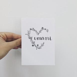 Wenskaart - Imani