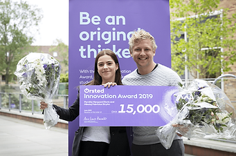 🏆 WINNERS OF THE ØRSTED INNOVATION AWARD 2019! 🏆                                              We are extremely honoured to be receiving the Ørsted Innovation Award 2019. 🤩 This award helps bring attention to the need for initiatives to support the focus on innovation and intrapreneurship in the daily life of students at Aarhus University. 🎓