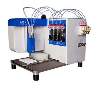 cobra nano dispenser 4 channel, non-contact dispenser, 1536 dispenser, cell dispenser, terasaki cell dispenser, tersaki plates, hla cell dispenser