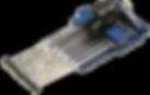 manual syringe dispenser, syringe dispenser, multiple syringe dispenser for tissue typing, 8 channel multiple syringe dispenser 9mm spacing