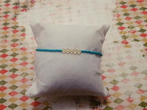 Bracelet minimaliste perles Miyuki et cristal toupie