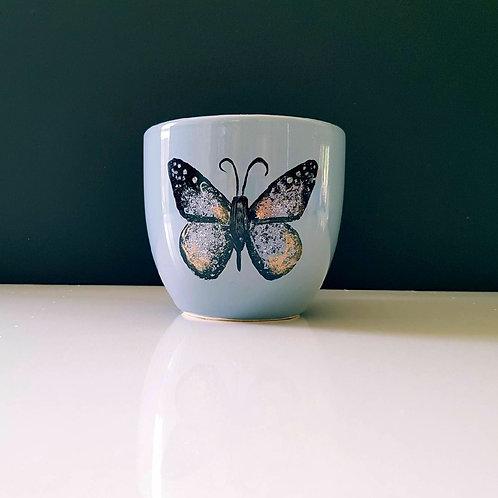 Tasse peinte à la main papillon