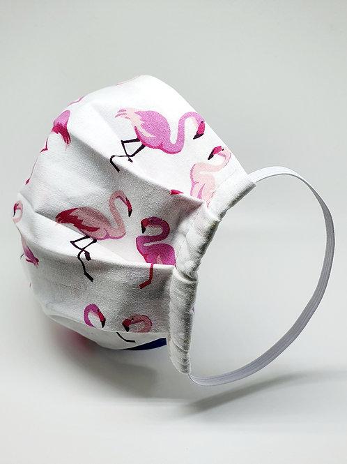Masque alternatif FM Rectangle motifs : flamant rose