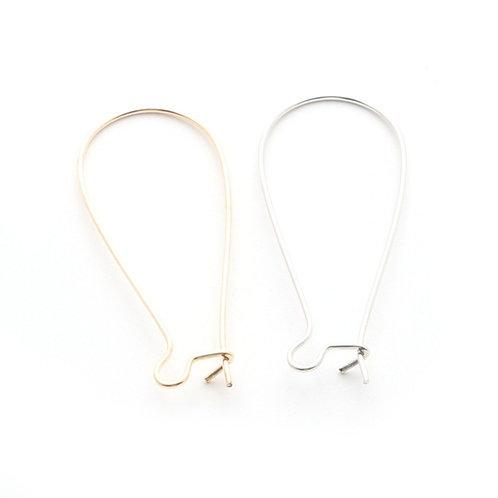 Lot 6 supports boucles d'oreilles fils dormeuse 16x38mm