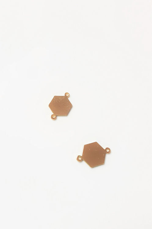 Connecteur polygone 16X10mm doré