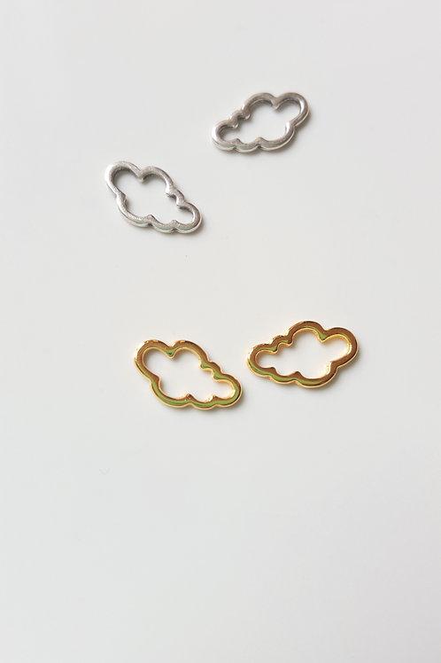 Breloque nuage en métal