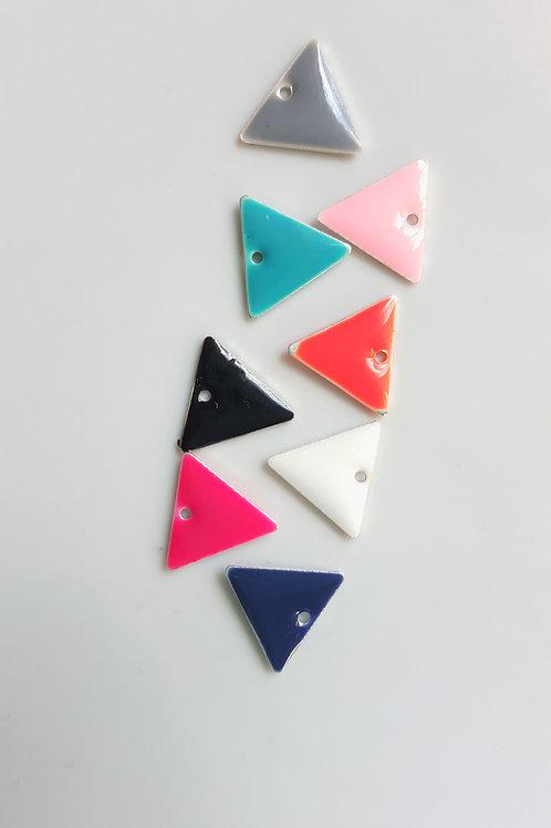 Breloque triangle émaillé de couleurs