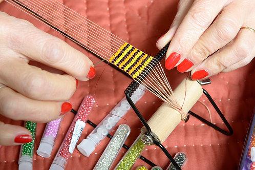 """Atelier tissage perles """"metier à tisser"""""""