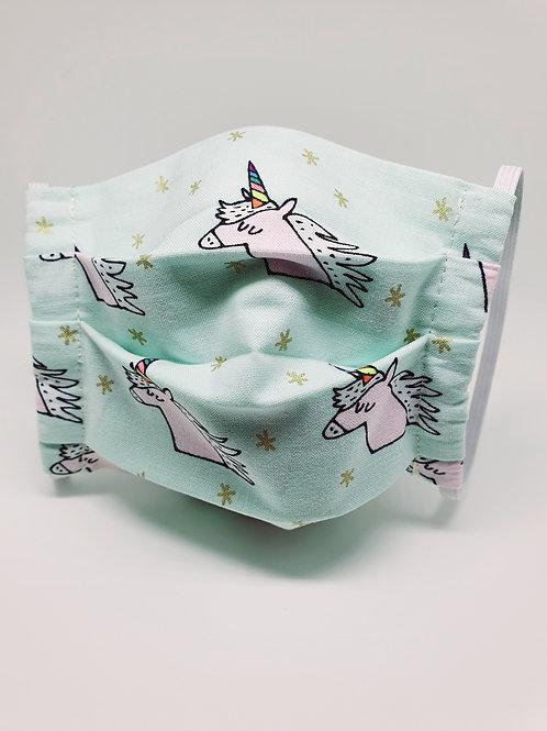 Masque alternatif FM motifs têtes de licornes