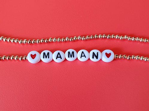 Double bracelets perles avec prénom