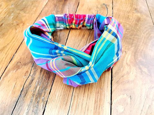 Headband pour bébé 3-9 mois tissu Madras