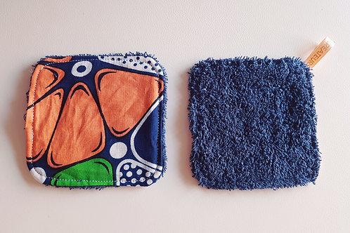 Lingette lavable tissus Wax