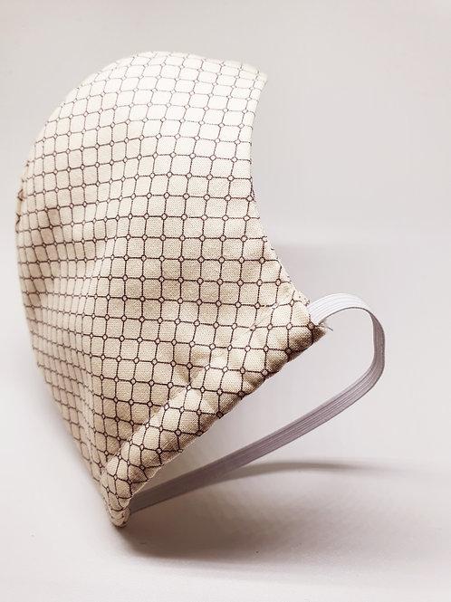 Masque alternatif FM  beige motif geometrique