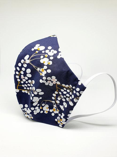 Masque alternatif FM bleu à fleurs