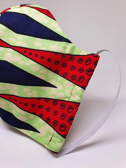 Masque alternatif FM rouge et vert