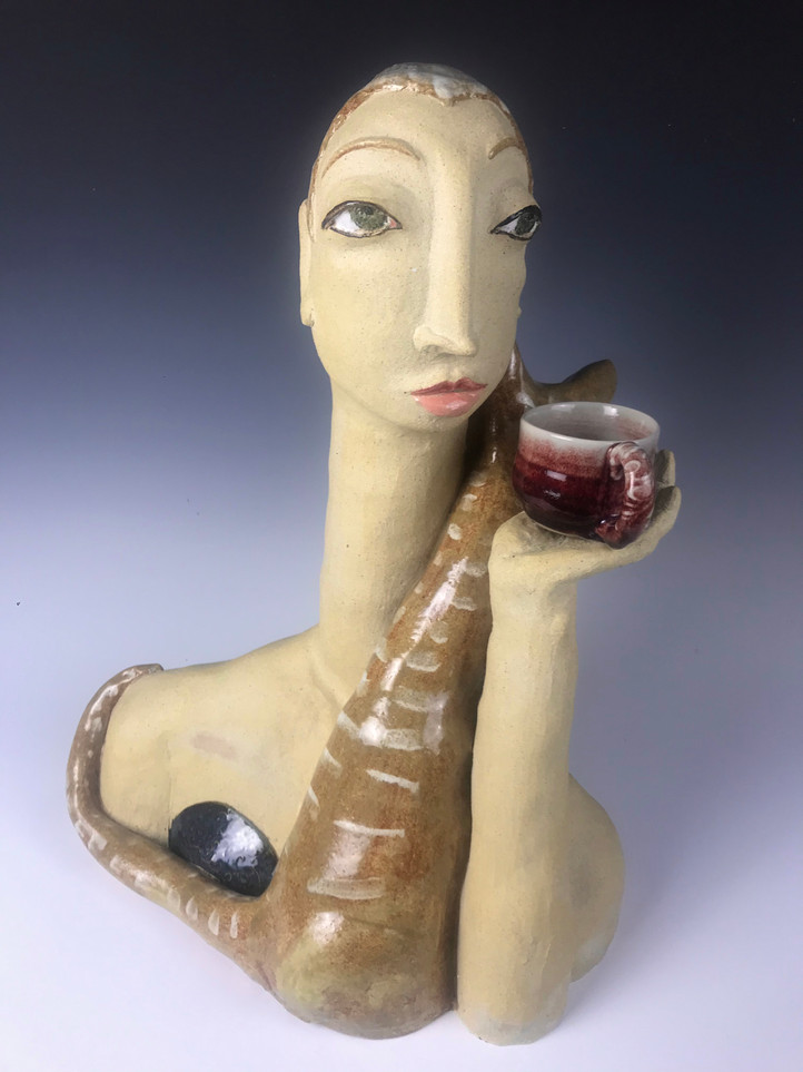 Modigliani's Model and her Cat