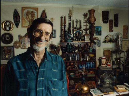 Clint Hamilton in his studio at The Center.