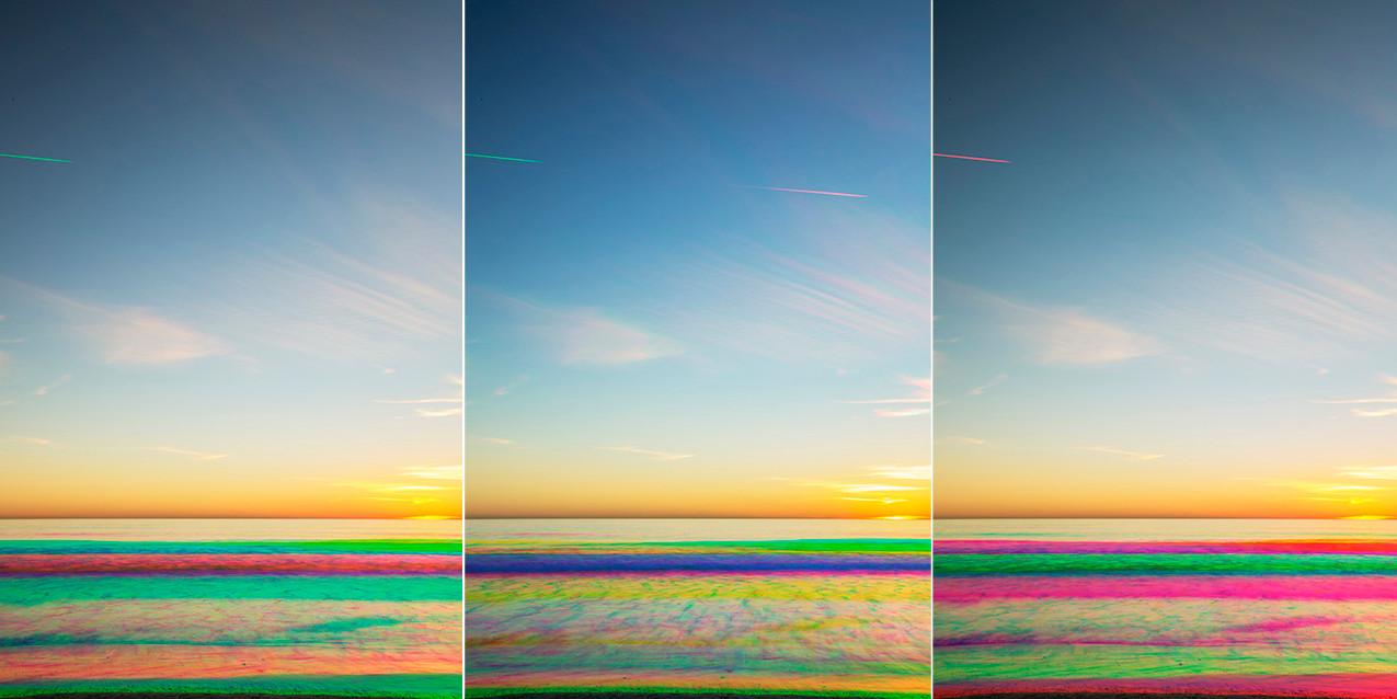 santa_monica_sunset_experiment_tryptich_01