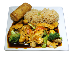 Chicken & Chinese Greens Combo Plate