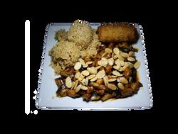 Chicken Almond Combo Plate