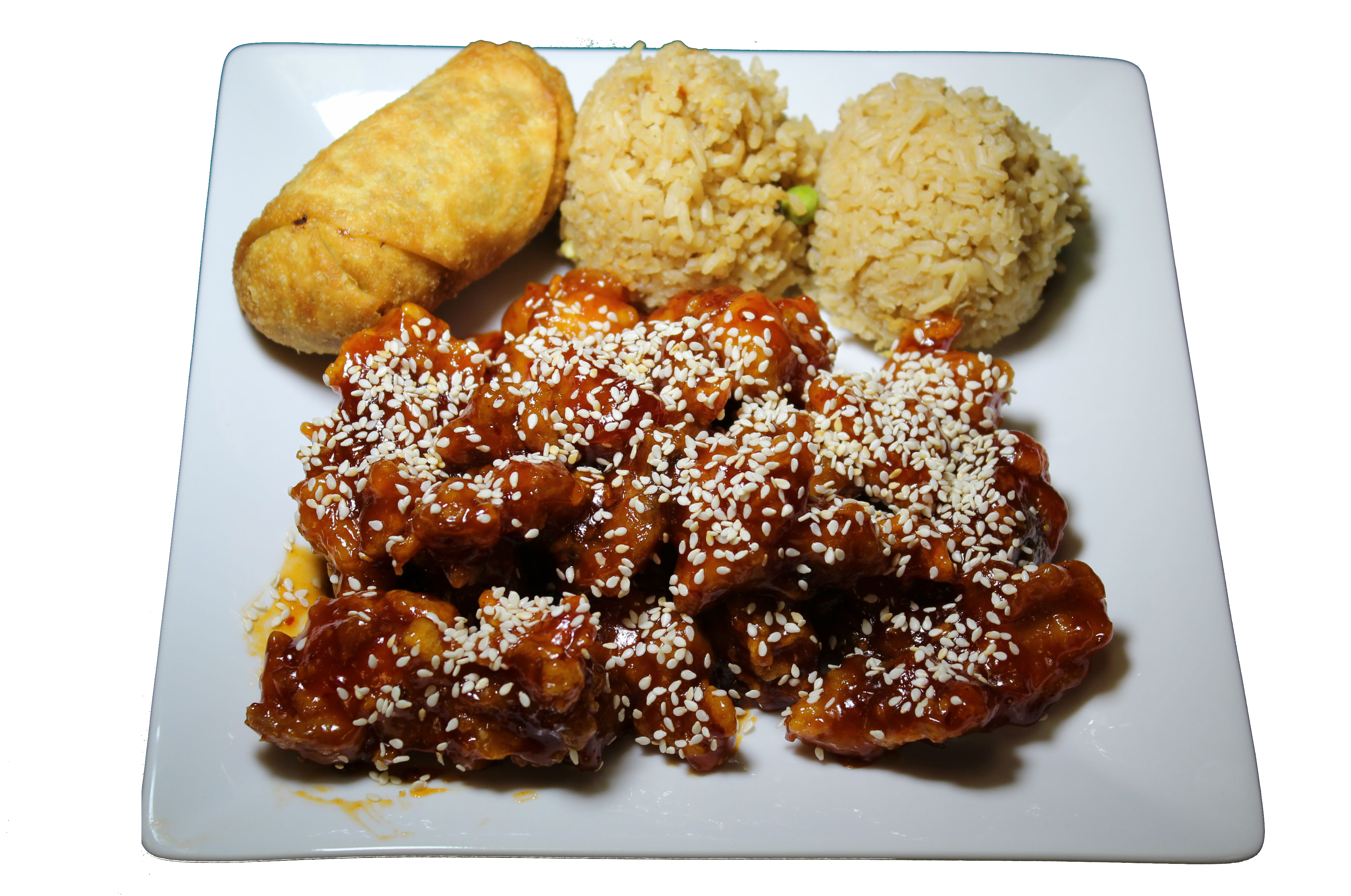 Sesame Chicken Combo Plate