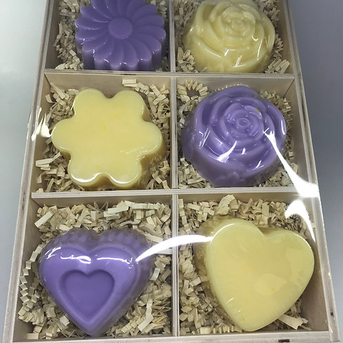 Lavender and Lemongrass Hearts and Flowers