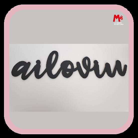 """Ailoviu"" - Frase paret"