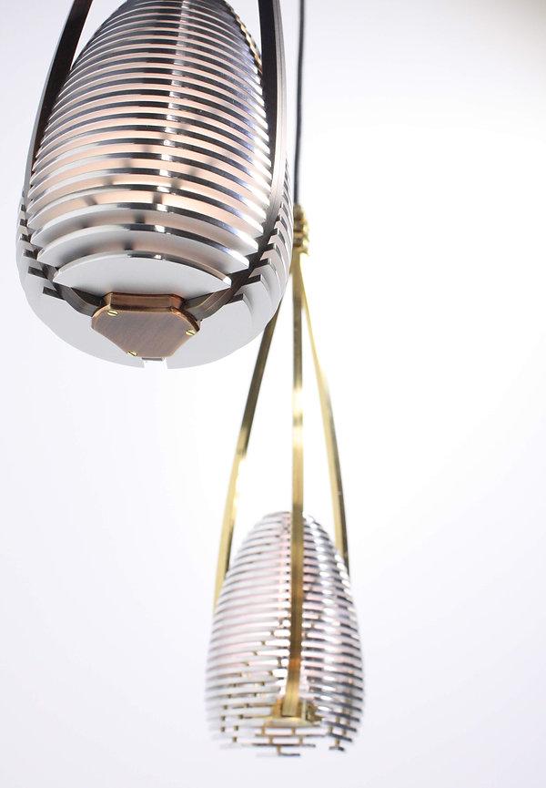 Exklusiv Leuchte Lampe Ambinte Gold Silver Messing Platin Rohdium Luzer