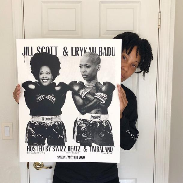 Jill + Erykah Concert Poster