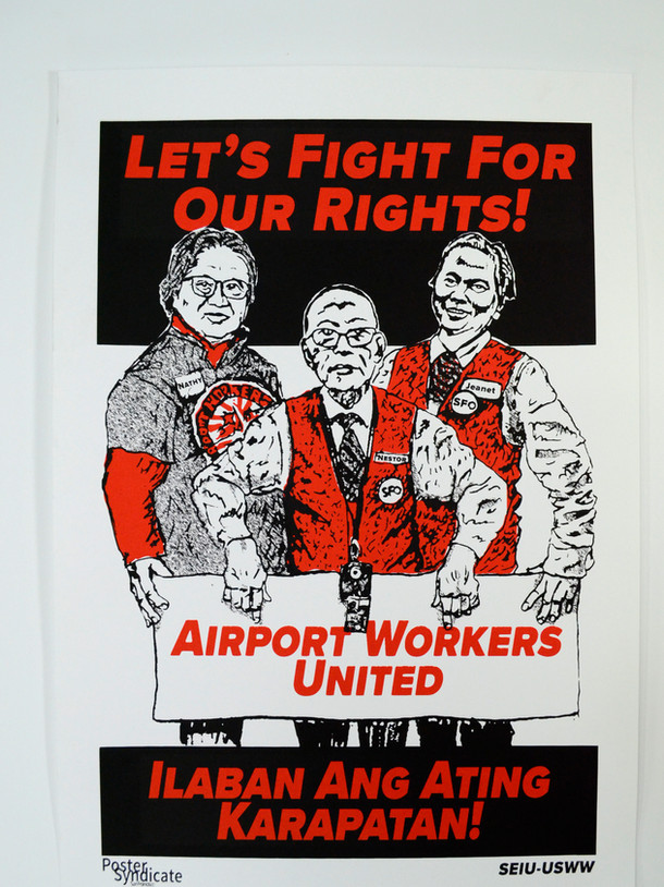 Airport Workers United by Poster Syndicate