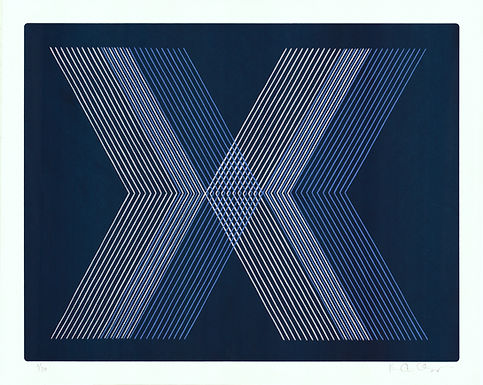 """Blue X"" by Kelly Ording"