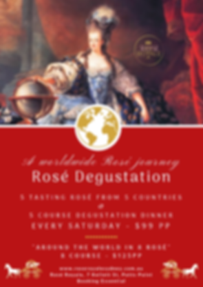 Rose Degustation Rose Royale Wine Tastin