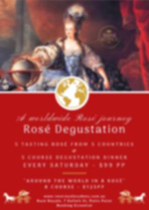 Rose Degustation Rose Royale Wine Tastin