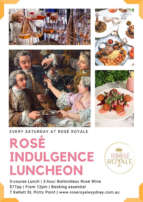 rose royale bottomless rose Saturday lun