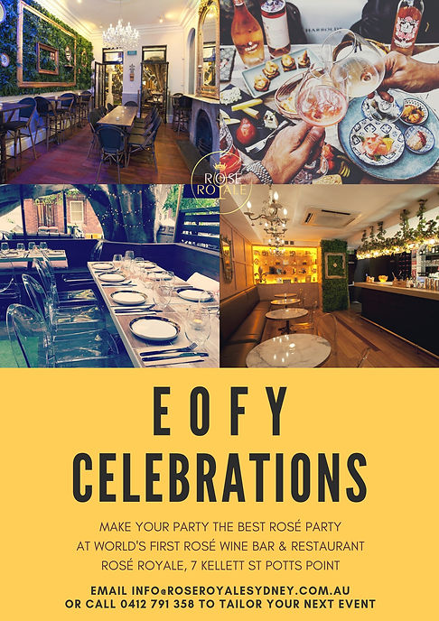 Celebrate EOFY function event rose royal