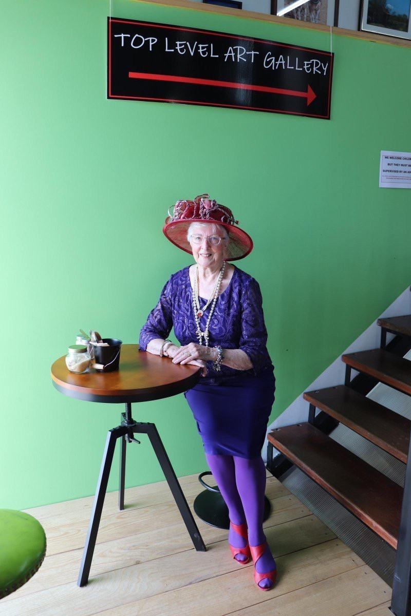 Jan Childs of the Red Hat Society in Kilmore