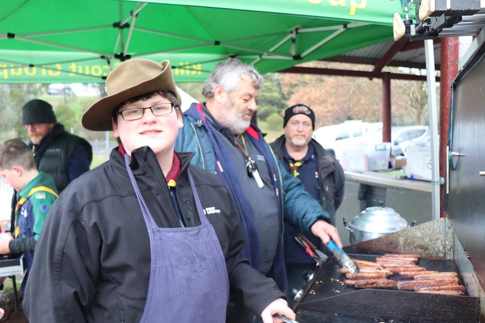 1st Kilmore Scouts raising funds at Kilmore Market
