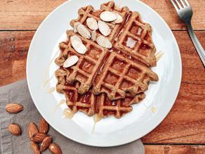 Waffles de banana y avena