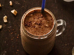 Batido de chocolate y banana