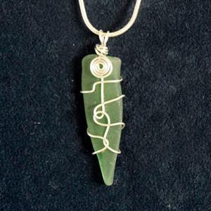 Dark Green Sea glass SG3