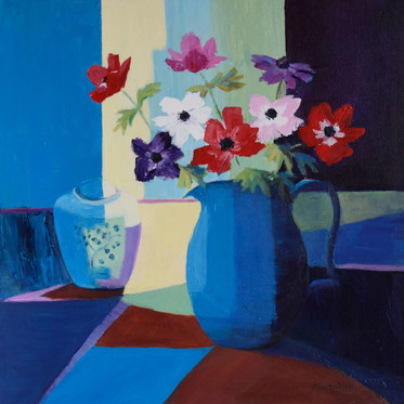 Anenomes and Blue Jug