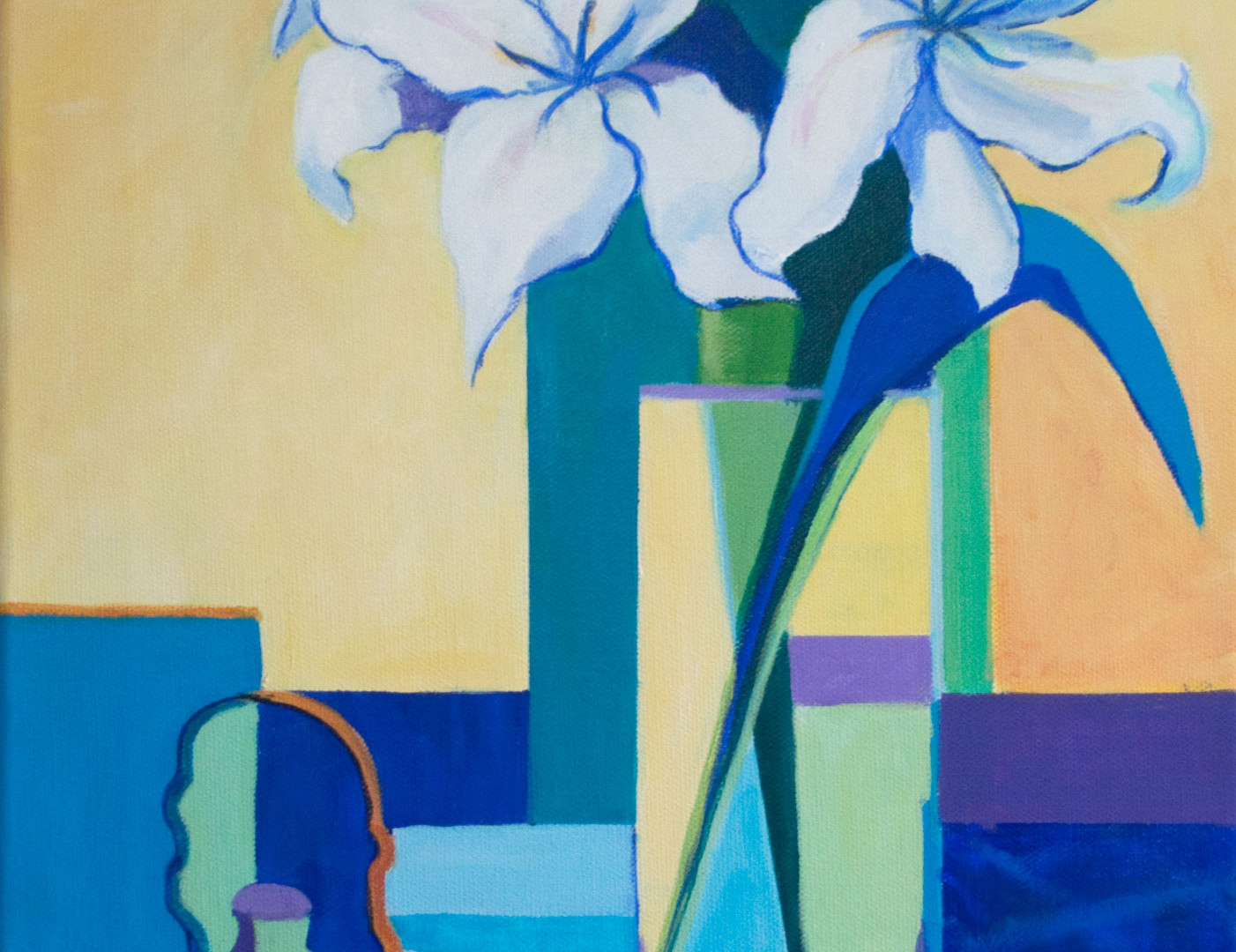 White Lilies and Teapot