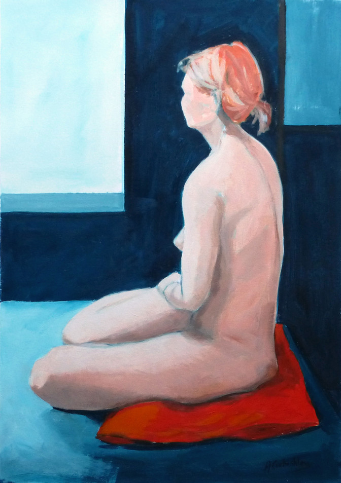Nude on a Red Cushion