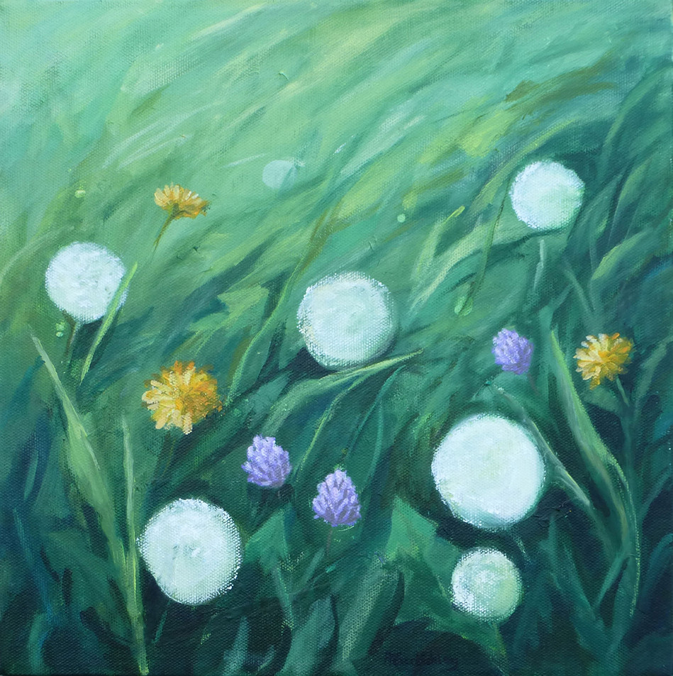 Dandelions and Clover