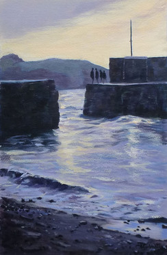 Sunset on the Harbour Wall