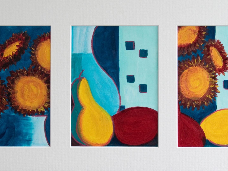 Crysanthemum Triptych