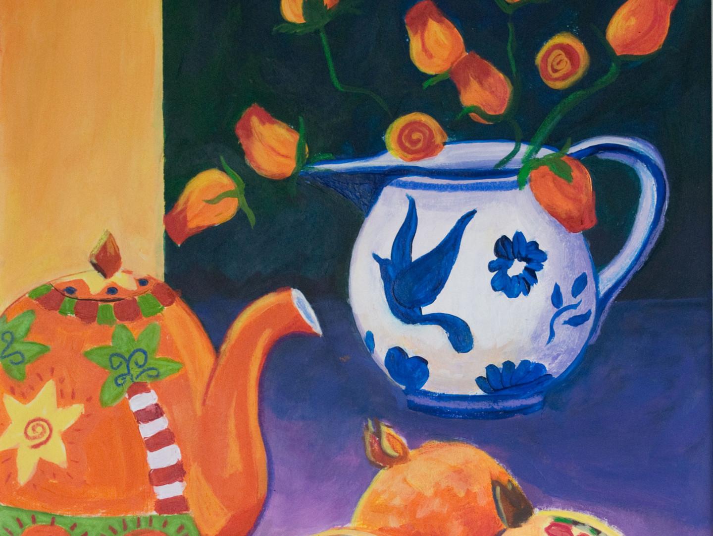 Pomegranates and Teapot