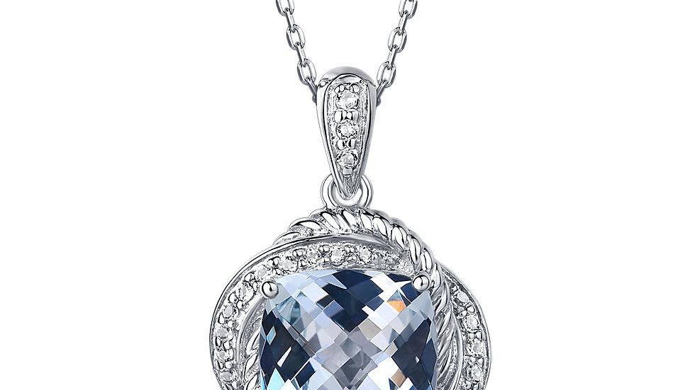 925 Silver Aquamarine Pendant