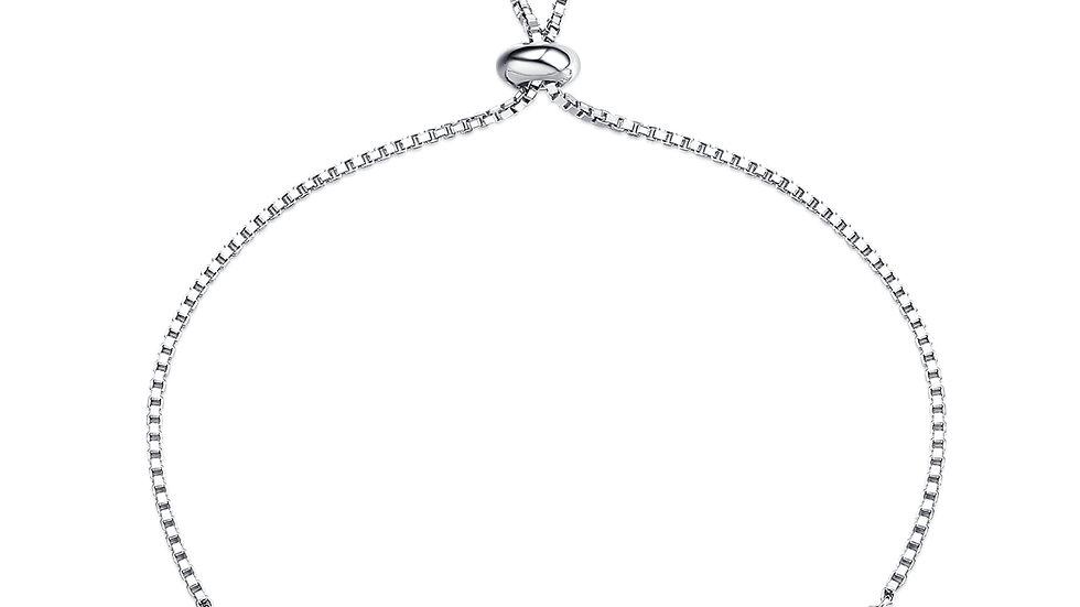 925 Silver Blue Topaz Bracelet