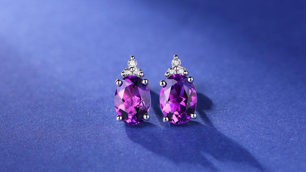 925 Silver Amethyst Earrings